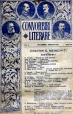 """Convorbiri literare este o revistă literară lunară care apare la Iași. În primul număr al revistei, Iacob Negruzzi preciza că: Sub numele de """"Convorbiri Literare"""" va apare la doue septemâni o revistă în formatul stinsei """"România Literară"""" - foto: ro.wikipedia.org"""