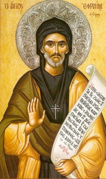 Sfântul și Preacuviosul Părintele nostru Efrem Sirul a fost un prolific scriitor de imnuri și teolog din secolul al IV-lea. El este cinstit de creștinii din lumea întreagă, dar în mod deosebit de creștinii siriaci, ca sfânt. Prăznuirea sa în Biserica Ortodoxă este la 28 ianuarie - foto: crestinortodox.ro
