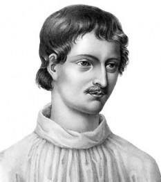 Giordano Bruno (n. ca.1548, Nola/Campania - d. 17 februarie 1600, Roma) a fost un teolog și filosof umanist italian din epoca Renașterii. Condamnat și ars pe rug de Inchiziție pentru concepția sa panteistă și pentru convingerea asupra infinității lumii, idei considerate eretice, numele lui a devenit sinonim cu cel de victimă a obscurantismului - foto: ro.wikipedia.org
