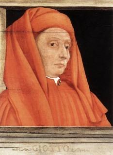 Giotto di Bondone, (n. ca.1267, Colle di Vespignano/Mugello - d. 8 ianuarie 1337, Florența), a fost un pictor și arhitect italian, considerat inovatorul picturii italiene și predecesorul artei moderne. Giotto a înlocuit compoziția ornamentală bizantină cu reprezentarea spațiului tridimensional, ceea ce semnala descoperirea perspectivei renascentiste - in imagine: Giotto di Bondone - Portret de Paolo Uccello, 1450, Muzeul Louvre, Paris - foto: ro.wikipedia.org