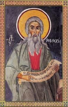 Maleahi, Malachias sau Mal'achi a fost un profet din Biblia ebraică. A avut doi frați, Nathaniel și Josiah. Malachi este considerat ca fiind autorul cărții care-i poartă numele, Cartea lui Maleahi, ultima carte din secțiunea Neviim a Tanakhului iudaic. În Vechiul Testament creștin este ultima carte înainte de Noul Testament. Maleahi s-a născut în satul Sofes, este din seminția lui Levi și a proorocit cu 430 de ani înainte de nașterea lui Iisus Hristos. Este sărbătorit de către BOR la 3 ianuarie - foto: basilica.ro