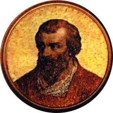 Papa Celestin al III-lea s-a născut la Roma în cca. 1106, cu numele de Giacinto Bobone. A fost ales papă al Romei pe 30 martie 1191 și a deținut această funcție până la moartea sa, pe 8 ianuarie 1198. Acest papă a confirmat prepozitura Sibiului printr-un act emis la 20 decembrie 1191. Documentul constituie prima mențiune a cetății Sibiului din Transilvania, sub numele Cibinium - foto: en.wikipedia.org