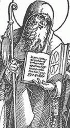Sfântul Severin de Noricum (n. ca. 410 - d. 8 ianuarie 482 la Flavianus, azi Mautern bei Krems an der Donau, Austria) a fost un cetățean roman care a activat ca misionar creștin la popoarele barbare din zona mijlocie a Dunării, abate, canonizat ca sfânt în Biserica Catolică. Nu se cunoaște cu siguranță locul originii sale (posibil, Africa de Nord). În italiană a rămas cunoscut sub numele de San Severo sau San Severino - foto: ro.wikipedia.org