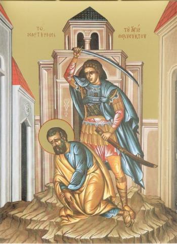 Sfântul Mucenic Polieuct. Pomenirea sa de către Biserica Ortodoxă se face la 9 ianuarie - foto: doxologia.ro