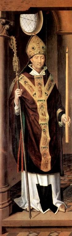 Blasiu (în variantă latină Blasius, în variantă slavonă Vlasie) (d. cca. 316) a fost un episcop în Sebasteia (Armenia Mare), astăzi Sivas în Turcia. Este sărbătorit ca sfânt în Biserica Catolică și în Biserica Ortodoxă. în calendarul latin: 3 februarie; în calendarul bizantin: 11 februarie; în calendarul armean: prima zi de luni, marți, joi sau sâmbătă de după octava de Bobotează. Numele în limba română ar putea fi Sfântul Valah din Sebasteia întrucât în albaneză si croată numele înseamnă Valahul - in imagine,  Sfântul Blasius, pictură de Hans Memling (1491) - foto: ro.wikipedia.org
