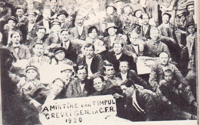 Greva CFR din 1920 - foto - istoriculzilei.blogspot.ro