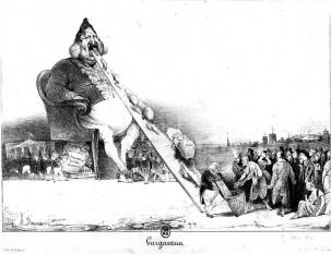 """Honoré Daumier (n. 26 februarie 1808, Marseille - d. 10 februarie 1879, Valmondois) - """"Gargantua"""""""