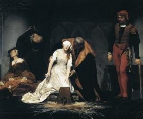 Execuţia lui Lady Jane Grey de Paul Delaroche, 1833 - foto: cersipamantromanesc.wordpress.com