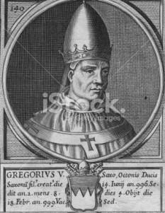 Papa Grigore al V-lea a fost cel dintâi papă german al Romei (între 996 și 999) (numele său laic era, Bruno von Kärnten) - foto: cersipamantromanesc.wordpress.com