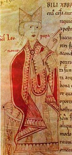 Papa Leon al IX-lea (n. 21 iunie 1002, la Eguisheim, Alsacia - d. 19 aprilie 1054, la Roma), având numele laic: Bruno Graf von Egisheim-Dagsburg, a fost Papă al Bisericii Universale între 12 februarie 1049 și 19 aprilie 1054 - foto: cersipamantromanesc.wordpress.com