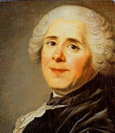 """Pierre Carlet de Chamblain de Marivaux (4 februarie 1688 Paris - 12 februarie 1763 id.) a fost un dramaturg , prozator și publicist francez, cel mai important autor francez de comedii din secolul al XVIII - lea, reprezentant al iluminismului timpuriu. Comediile sale reprezintă analize minuțioase ale sentimentului iubirii și desfășoară o artă rafinată a nuanțelor. Dialogul este spiritual, adesea prețios, cunoscut ca """"marivaudage"""" - in imagine, Pierre de Marivaux, 1743 - foto: ro.wikipedia.org"""