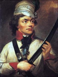 Andrzej Tadeusz Bonawentura Kościuszko (n. 4 februarie 1746 – d. 15 octombrie 1817) a fost un general și lider militar polono-lituanian din timpul Revoltei lui Kościuszko. El este un erou național în Polonia, Lituania, Statele Unite și Belarus. A condus Revolta lui Kościuszko din 1794 împotriva Imperiului Rus și împotriva Regatului Prusiei în calitate de Comandant Suprem al Forțelor Armate Naționale  - foto: ro.wikipedia.org