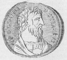 Apollonius din Tyana (n. cca 40  - d. cca 120) a fost un discipol al lui Pitagora. S-a remarcat încă de tânăr prin capacitățile sale de vindecare și clarviziune. A călătorit foarte mult, răspândind cunoștințele dobândite. Profesa artele hermetice și filozofia. Scopul său era de a demonstra lumii întregi că în spatele imaginilor icoanelor, al ceremoniilor religioase, al miracolelor de orice natură, se află Dumnezeu. Despre Apollonius tradiția afirmă că a călătorit în Shambala, centrul spiritual al planetei. Credința propagată de predicatorul Apollonius din Tyana, contemporan cu Isus, n-a avut darul să se impună în lume, fiind ulterior dată aproape uitării, la fel ca și alte curente religioase marcante ale vremii (credința propagată de Simon Magul, cultul religios al zeului iranian Mithra și cultul zeiței egiptene Isis) - foto: ro.wikipedia.org