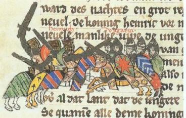 Bătălia de la Riade sau bătălia de la Merseburg s-a dat între trupele din Francia Răsăriteana conduse de regele Henric I și cele ale maghiarilor, în nordul Thuringiei lângă râul Unstrut pe 15 martie 933. Bătălia a fost rezultatul deciziei Sinodului de Erfurt de a nu mai plăti tribut maghiarilor în 932. După cronicarul saxon Widukind de Corvey, aceasta a fost o victorie importantă pentru Francia Răsăriteană - in imagine, Henric I luptând împotriva maghiarilor - foto: ro.wikipedia.org