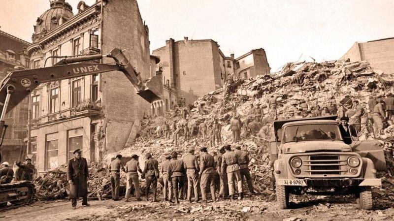Cutremurul din 4 martie 1977 (România)  - foto preluat de pe www.historia.ro