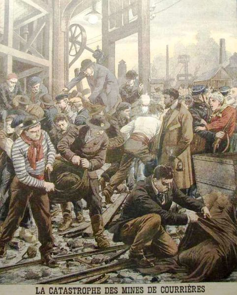Le Petit Journal illustration of the Courrières mine disaster - foto: en.wikipedia.org