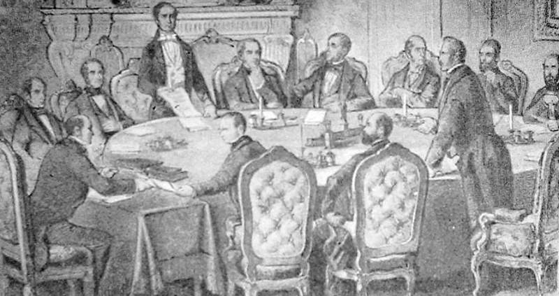 Tratatul de la Paris - Dezbaterile (30 martie 1856) - foto preluat de pe ro.wikipedia.org