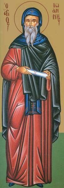 Sfântul Cuvios Ioan, ucenicul Sfântului Grigorie Decapolitul - foto preluat de pe doxologia.ro