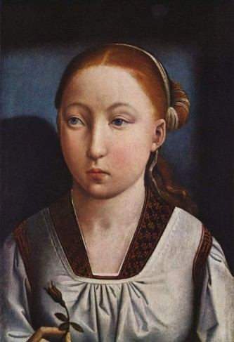 Catherine de Aragon (n. 15 decembrie 1485, Aragon, Spania - d. 7 ianuarie 1536, Kimbolton, Cambridgeshire, Anglia) a fost fiica regelui Ferdinand de Aragon și a reginei Isabella de Castilla. A fost căsătorită succesiv cu 2 fii ai regelui Henric al VII-lea al Angliei: mai întâi cu Arthur, prinț de Wales, decedat la foarte scurt timp după căsătorie, apoi cu Henric, care îi va succede la tron tatălui său. A fost mama reginei Maria I a Angliei, cunoscută ca Mary cea sângeroasă - in imagine, Catherine în copilărie, portret de Juan de Flandra, 1485 - foto: ro.wikipedia.org
