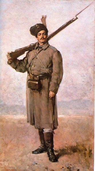 Dorobanțul - de Nicolae Grigorescu - foto preluat de pe ro.wikipedia.org