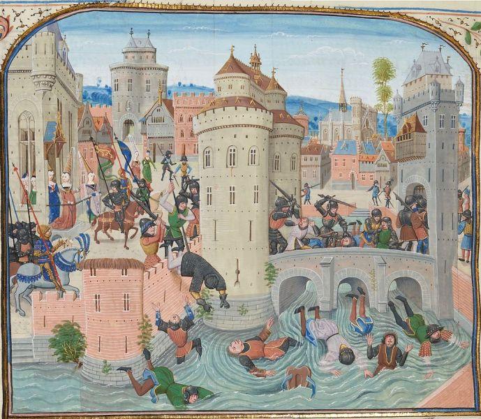 Defeat of the Jacquerie 9 June 1358 - foto preluat de pe en.wikipedia.org