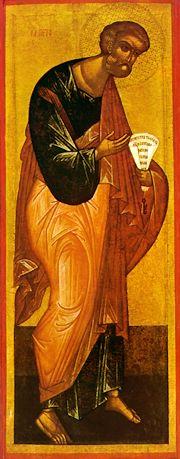 """Sfântul, slăvitul și întru tot lăudatul Apostol Petru este căpetenia (""""verhovnicul"""") celor doisprezece apostoli ai Domnului Iisus Hristos. Pomenirea sa se face la 29 iunie, împreună cu Apostolul Pavel - foto preluat de pe ro.orthodoxwiki.org"""