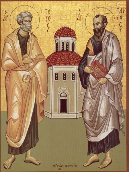 Sfinții Apostoli Petru și Pavel. Prăznuirea lor de către Biserica Ortodoxă se face la data de 29 iunie - foto preluat de pe doxologia.ro