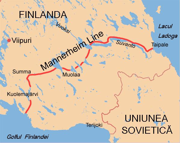 Linia Mannerheim de-a lungul căreia s-au dus cele mai dure lupte din timpul războiului sovieto-finlandez - foto preluat de pe ro.wikipedia.org