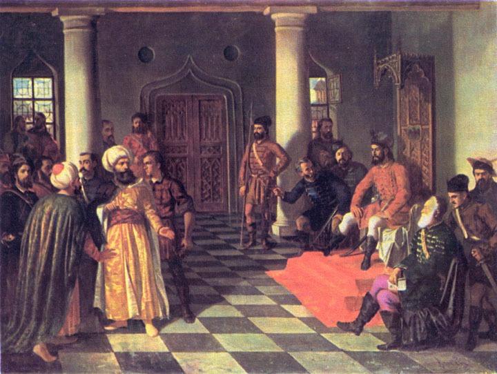""" Vlad Țepeș și solii turci"" - pictura de Theodor Aman - foto: ro.wikipedia.org"