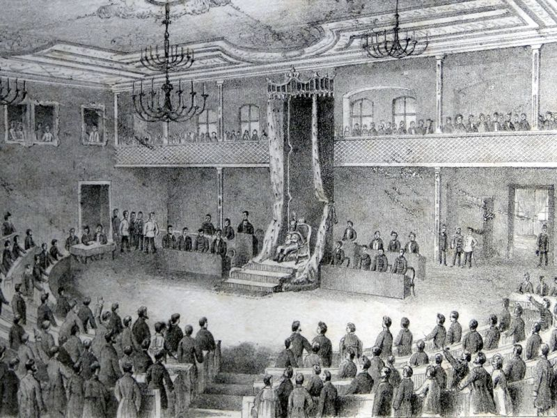"Sibiu, Hotel ""Împaratul Romanilor"", Sala Redute (1863) - foto: patrimoniu.sibiu.ro"