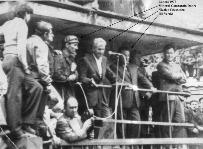 Greva minerilor din Valea Jiului (Lupeni, 1 - 3 august1977) - foto: jurnalul.ro