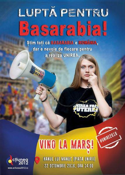Marșul Unirii: LUPTĂ pentru Basarabia - foto: facebook.com