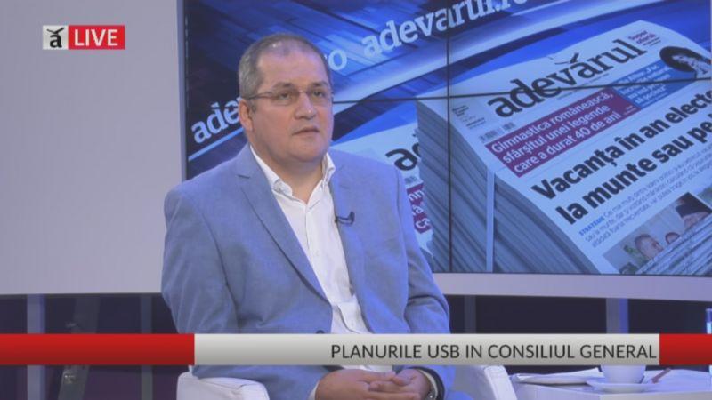 Dumitru Dobrev, despre activitatea în Consiliul General şi extinderea USB - foto (captura video): adevarul.ro