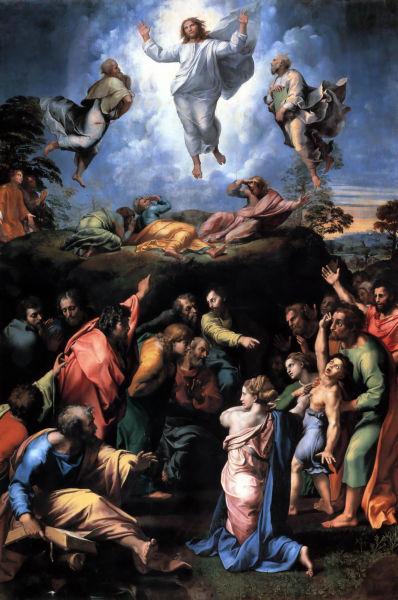 Schimbarea la față - Rafael Sanziol  (1518-1520) - Ulei pe lemn, Muzeul Vaticanului, Roma - foto preluat de pe ro.wikipedia.org