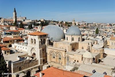 Biserca Sfantului Mormant (denumită și Biserica Sfântului Sepulcru sau Biserica Sfintei Învieri), din Ierusalim - foto: cersipamantromanesc.wordpress.com