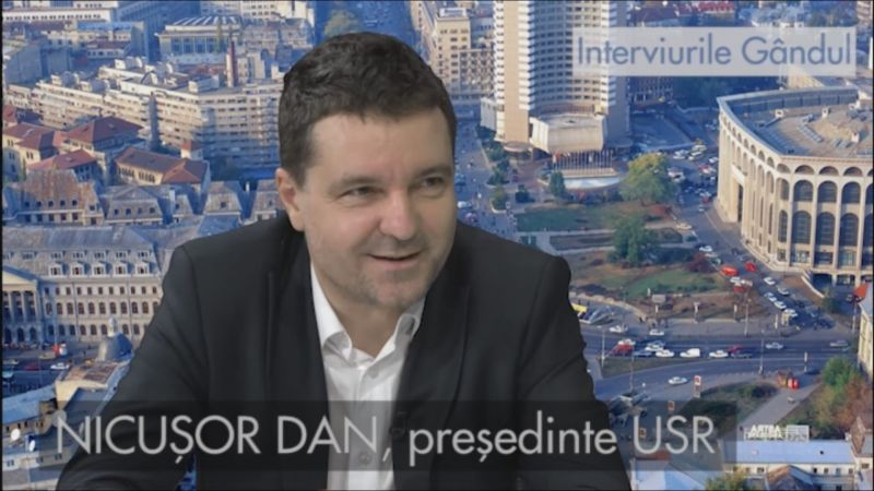 Nicuşor Dan, președintele USR - foto (captura video): gandul.info