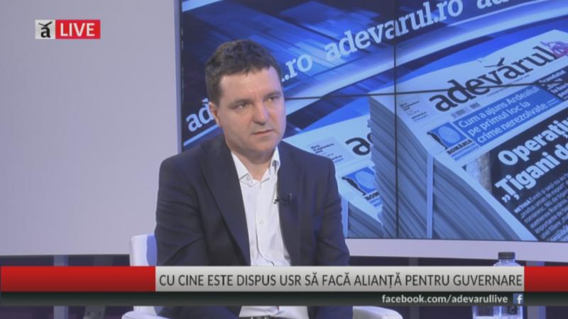 Nicușor Dan, preşedintele Uniunii Salvaţi România (USR) - foto (captura video): adevarul.ro