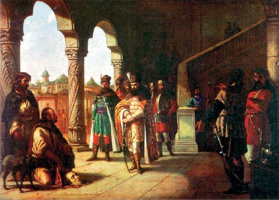 "Theodor Aman - ""Mihai Viteazul si capul lui Bathory"" - foto preluat de pe ro.wikipedia.org"