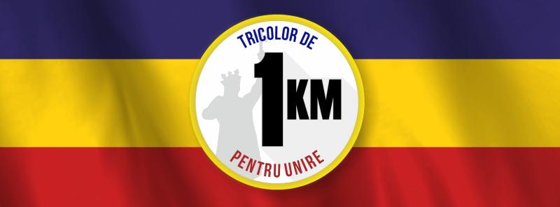 1 Decembrie - 1 Kilometru de Tricolor - foto: facebook.com