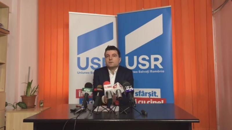 Nicuşor Dan, președintele USR - foto (captura video): - foto: facebook.com