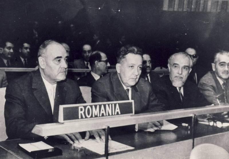 Delegatia Romaniei la a XVa sesiune a Adunarii Generale ONU (1960)- foto: comunismulinromania.ro