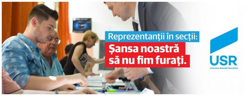 Înscrie-te ca reprezentant sau delegat al Uniunii Salvaţi România în secţiile de votare - foto: facebook.com
