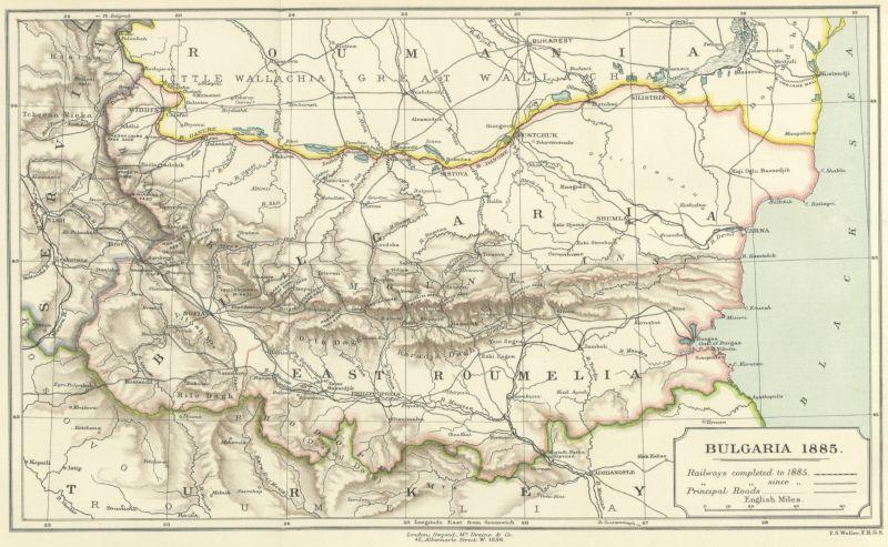 Căile de comunicații în nordul Peninsulei Balcanice în secolul XIX (1885) - foto preluat de pe ro.wikipedia.org
