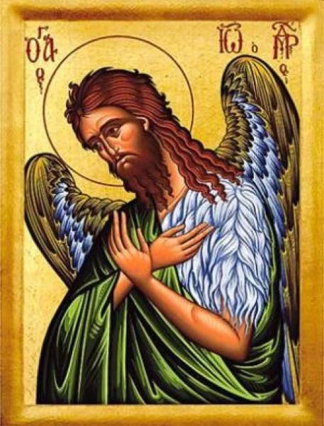 """Sfântul Ioan Botezătorul a fost ultimul dintre prooroci, înainte-mergător și botezător al Domnului nostru Iisus Hristos, """"cel mai mare dintre cei născuți dintre femei"""" (Matei 11,11; Luca 7,28), așa cum îi spune Mântuitorul. Iisus mai afirmă că el nu este nici o """"trestie clătinată de vânt"""", nici un """"om îmbrăcat în haine moi"""" (Matei 11,7-8), indicând astfel caracterul neclintit și auster al profetului - foto preluat de pe basilica.ro"""