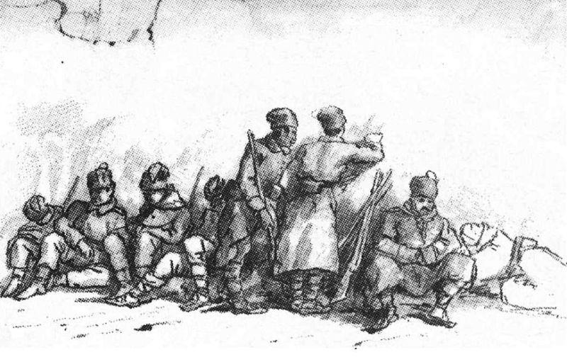 Soldaţi români în faţa redutei de la Smârdan - de Carol Popp de Szathmári - foto preluat de pe ro.wikipedia.org