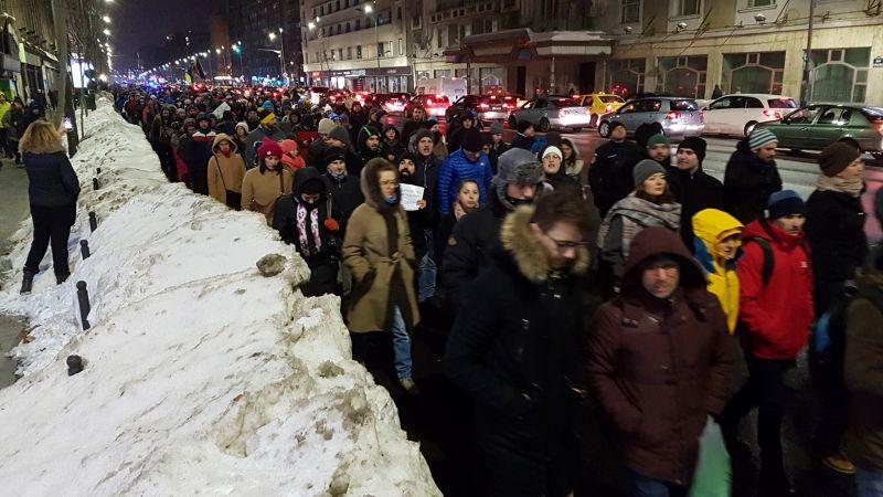 """Protest """"NU Legii Gratierii Si Amnistiei"""" (București - 18 ianuarie 2017) - foto: Sergiu Brega"""