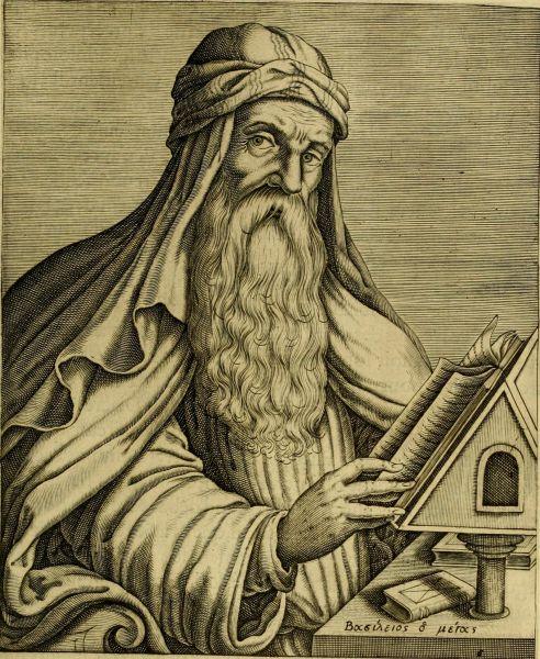 """Vasile din Cezareea Cappadociei, cunoscut sub numele Vasile cel Mare (n. 330, Cezareea, Cappadocia - d. 1 ianuarie 379, Cezareea Cappadocia) a fost un arhiepiscop din secolul al IV-lea, considerat doctor al Bisericii și unul din cei trei doctori răsăriteni ai Bisericii, alături de Grigore de Nazianz (""""Teologul"""") și Ioan Gură de Aur - foto preluat de pe ro.wikipedia.org"""