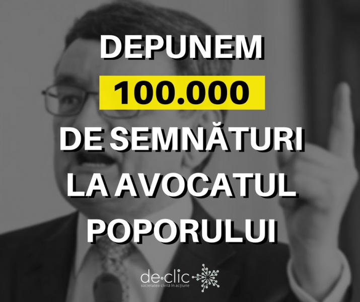 """Marți, 10 ianuarie 2017, depunem primele 100.000 de semnături ale petiției """"Victor Ciorbea, ești concediat!"""" - foto: facebook.com"""