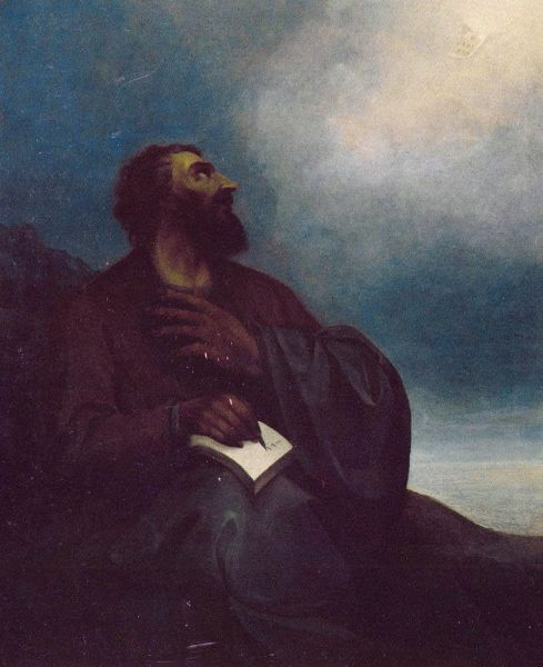 Mesrob Maștoț (362 – February 17, 440 AD) - Painting by Stepanos Nersisian (1815–84), kept at the Pontifical Residence at the Mother See of Holy Etchmiadzin - foto preluat de pe en.wikipedia.org