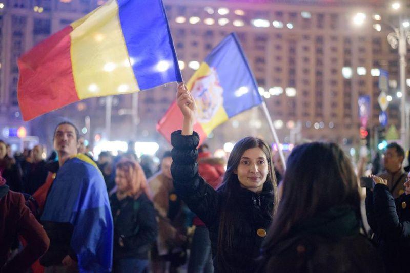 Protest Bucurețti (Piața Victoriei, februarie 2017) - foto: Mihut Savu